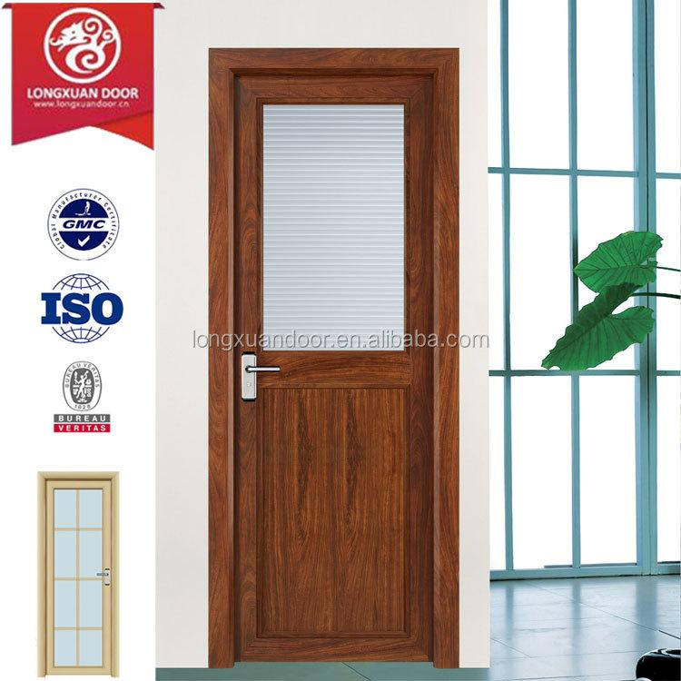 Puertas de aluminio para ba o interior for Vidrios para puertas de madera