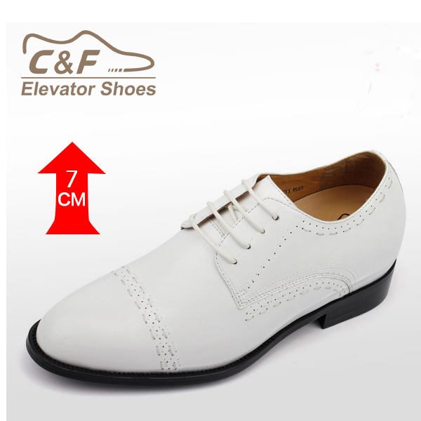 New Style Fashion 2 Inch White Wedding Shoes For Men Evening Party