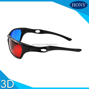 plastic red blue 3d glasses red cyan sports design 3d glasses with hole on arms