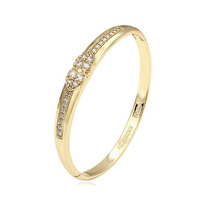 51105 xuping modern design gold bangle., heart love bangle