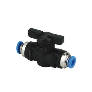BUC Series Ball Valve Black Plastic Pipe Push In Fitting