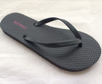 e956bdcb5d283 Women Plain Black Color Rubber Flip Flops - Buy Women Black Color ...