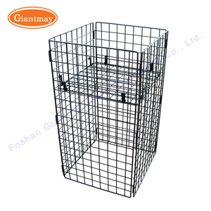 light duty market retail promotional metal wire display dump bin