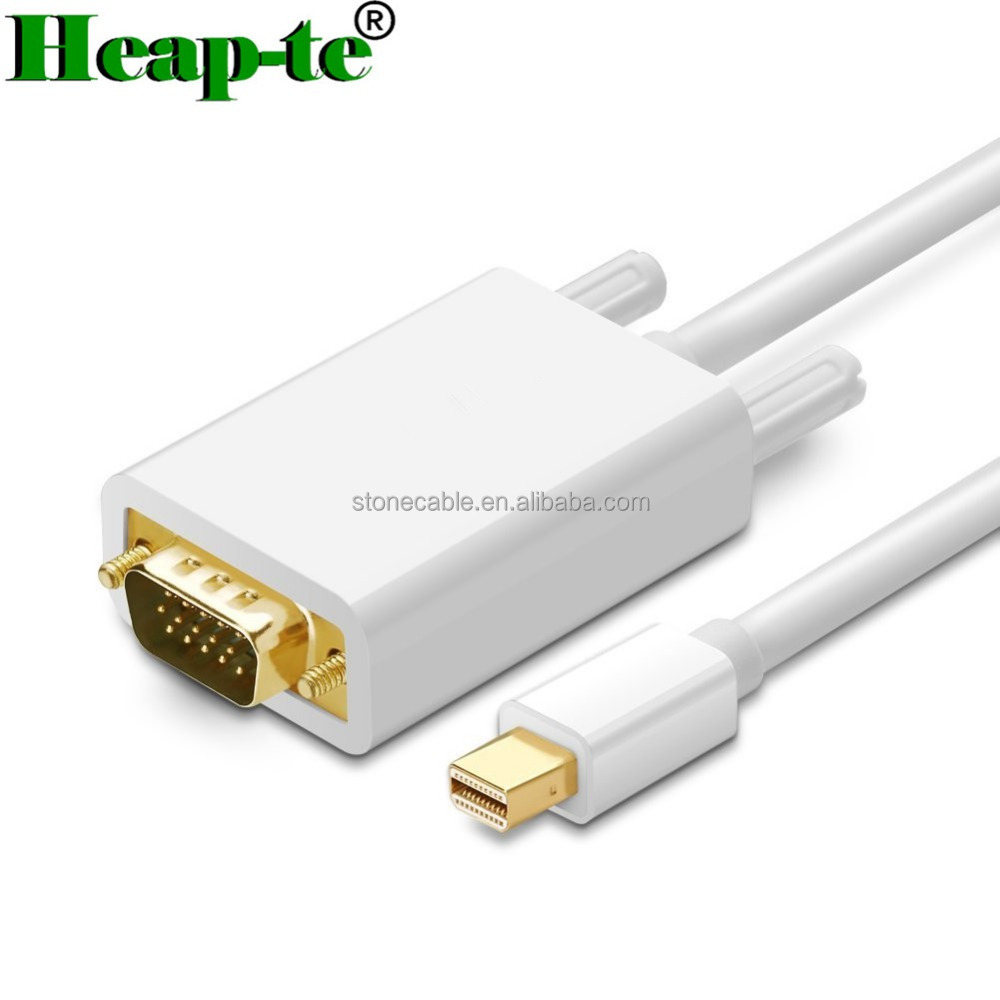 Mac Pro Air 24K Gold-Plated Thunderbolt Mini Displayport to VGA Cable Adapter
