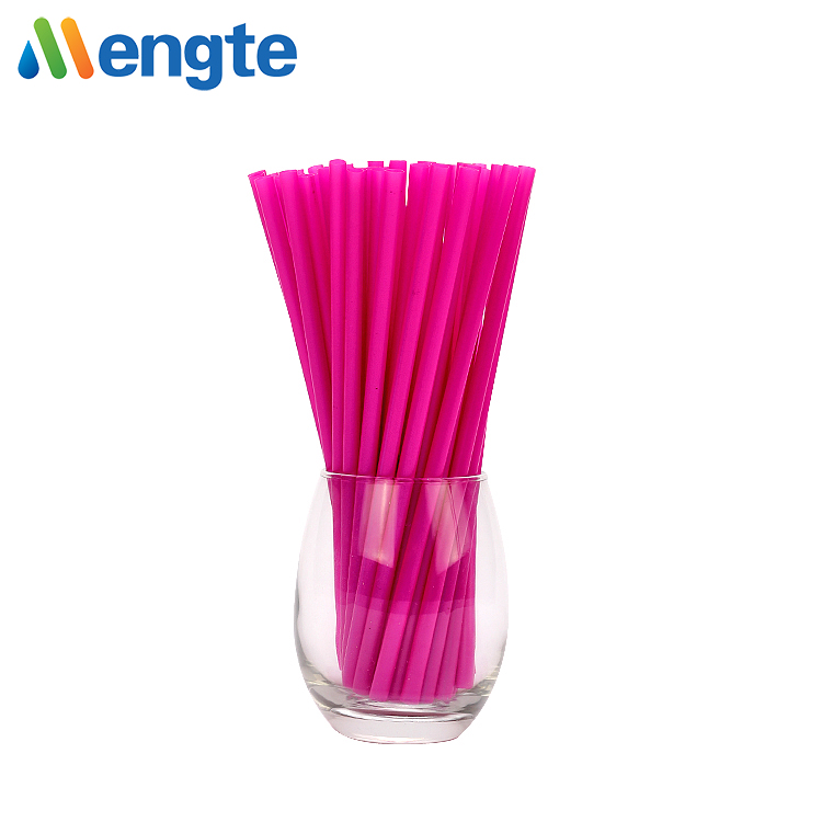 eco-frendly food grade reusable 6mm biodegradable maize starch pink straight smoothie drinking straw
