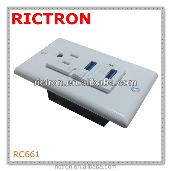 3-pin Plug Socket Wall Mounted Recessed Electrical Plug Sockets With ...