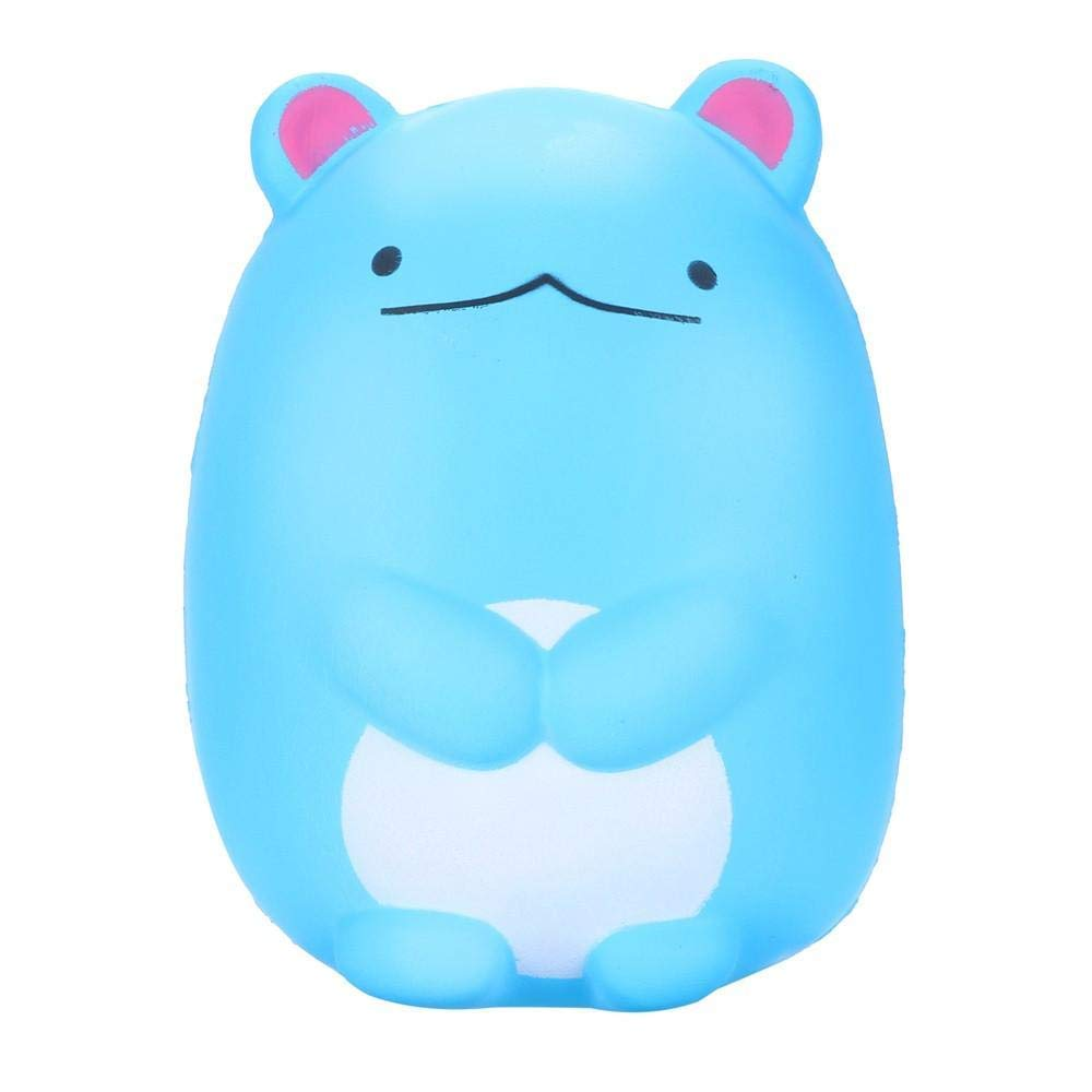 Sacow Squeeze Toys, Squishy Cute Polar Bear Slow Rising Scented Stress Reliever Toy Cute Vent Toys 12 cm (Mice-Blue)