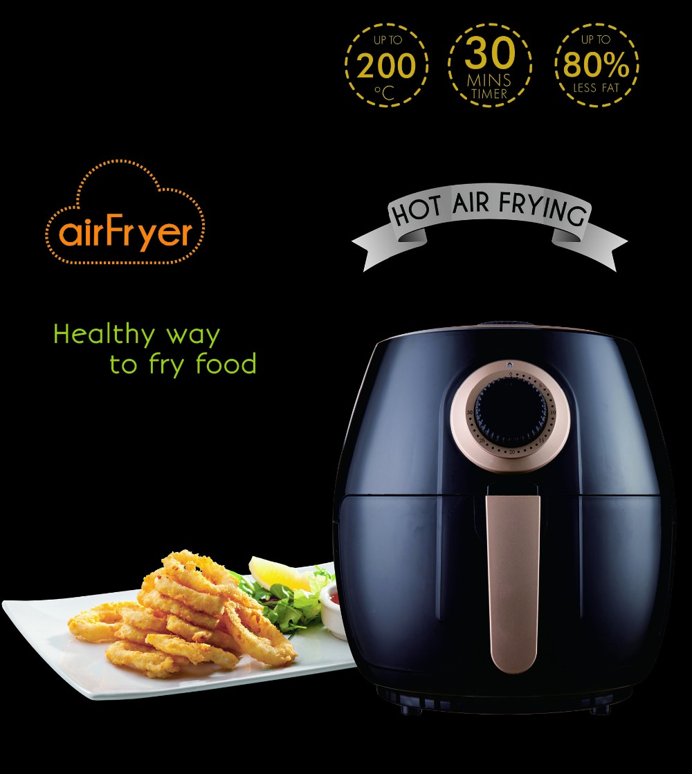 Food Cooks Thoroughly And Quickly Use Air Circulation Fryer