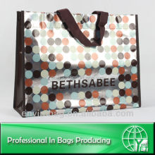 Gift Metallic PP non woven decorative reusable shopping bag