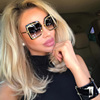 Luxury Square Sunglasses Women Brand Designer Coating Unique Oversized Ladies Sunglass Points Sun Glasses For Female UV400