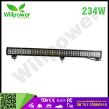 "Best price 36""inch 234W combo barre led 4x4 off road headlights led tower crane light with ce ip67 rohs cars led daylight for"