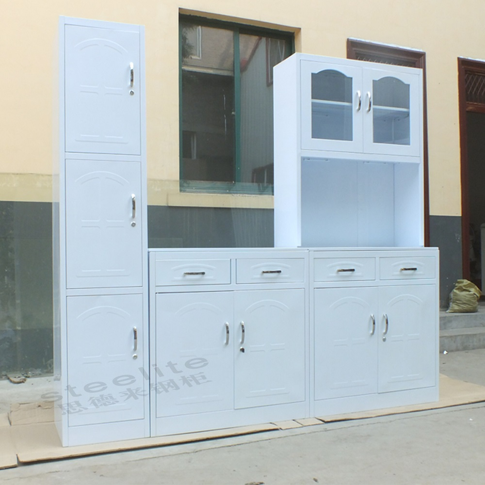 Metal Cabinets Kitchen: China Made New Style Metal Kitchen Cabinet For Sale