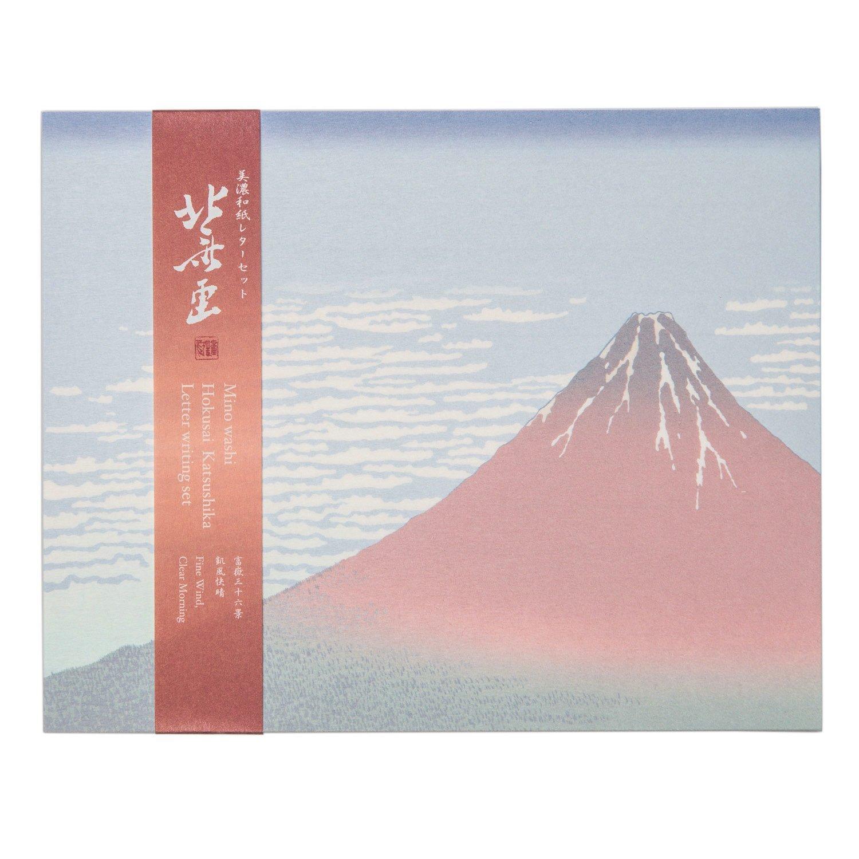 Red Mount Fuji Japanese Letter Writing Set