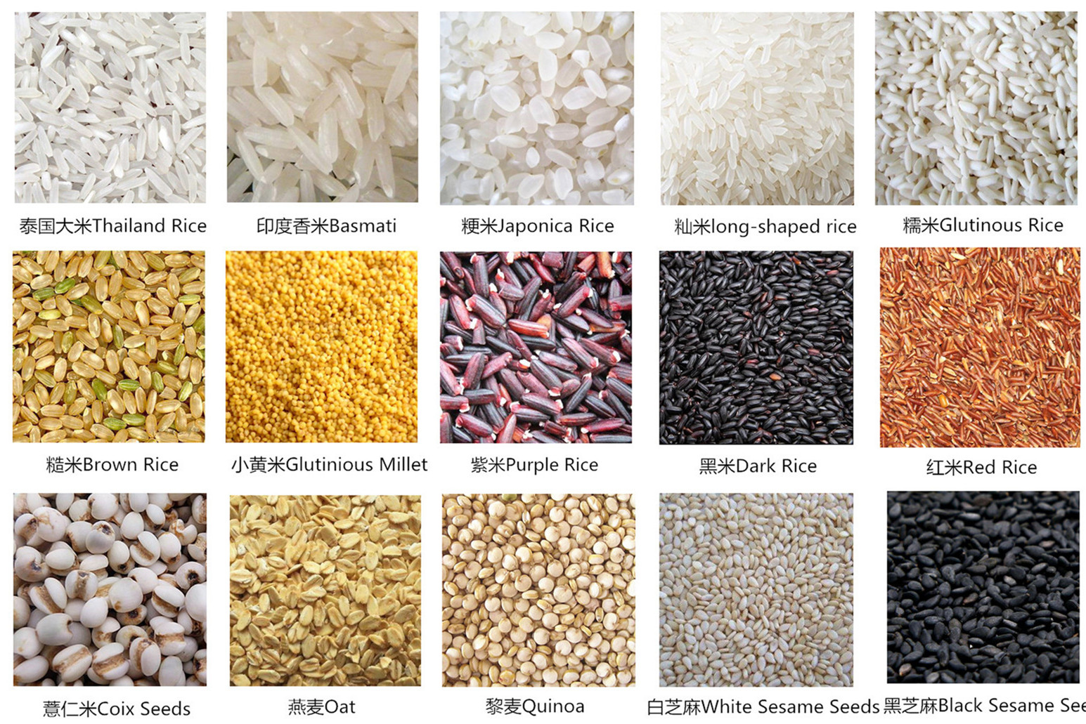 Sette-canale di alta selezione tasso netto di alta uscita di riso di colore smistamento macchina