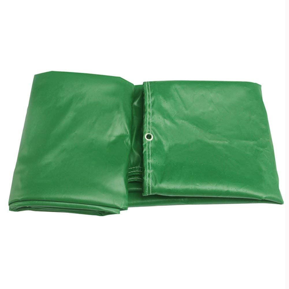 WUFENG Tarpaulin Double-sided PVC Rain Cloth Canvas Waterproof Sun Protection Canvas Outdoor 0.4mm Thick 600g/m2 (Color : Green, Size : 5x6m)