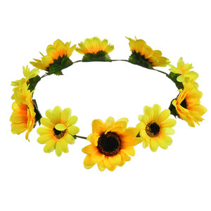 Hot wreath of sunflower, street snap wreath of Hawaii party head band