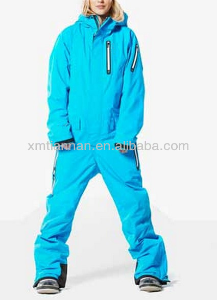 Womens Snow Suit One Piece >> Fashion Sky Blue Performance Ski Snow Suit One Piece Waterproof Ski Snow Jumpsuit Buy Adults Ski Snow Suit One Piece Waterproof Ski Snow
