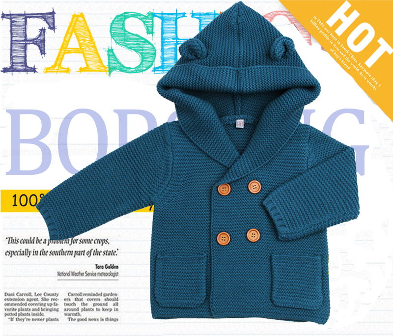 a9a5bd949ab6 Aliexpress.com   Buy 6M 24M Baby Boy Knitted Cardigan Winter Toddler ...