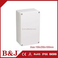 B&J 150x250x100mm Size IP68 Waterproof ABS Plastic Enclosure Junction Box