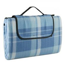 100% polyester waterproof fleece plain printed picnic blanket
