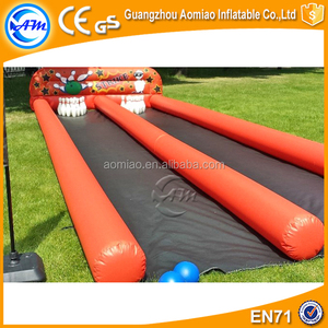2017 Hot Sell Inflatable Human Used Bowling Ball Lanes Slip Slide for Sale