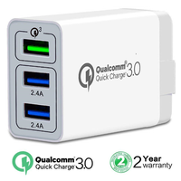 New products 2018 QC 3.0 wall charger Quick charger 3.0 usb charger 3 ports for iPhone XR XS XS Max for iPhone X 6 7 8 for iPad
