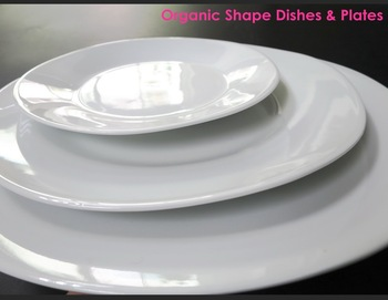 Fine Porcelain Extra White Organic Shape Plates and Dishes : organic tableware - pezcame.com