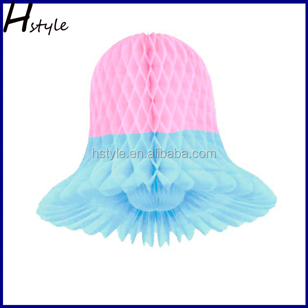 Wedding Decoration Smal Bell Shaped Tissue Paper Honeycomb Bell SD055