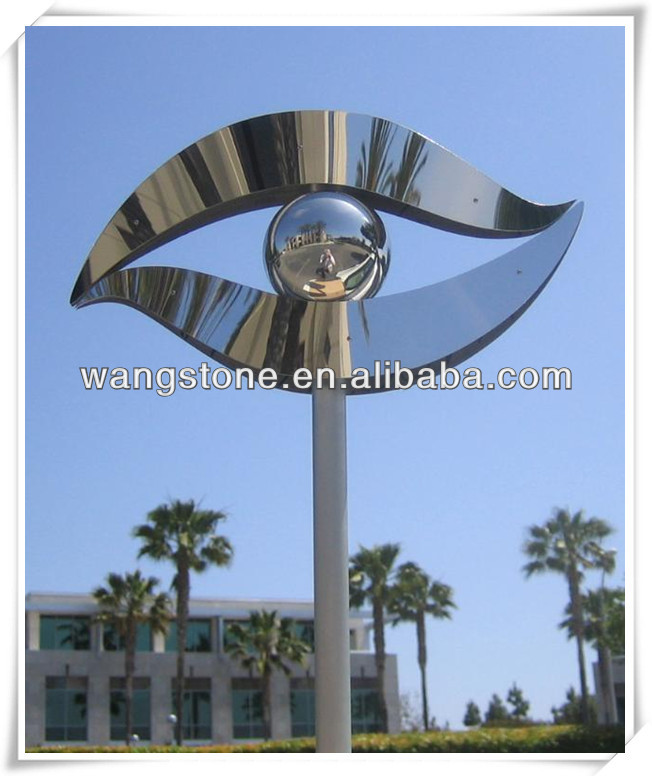 Pillar stainless steel sculpture for outdoor decoration