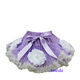 Girls Lavender Cream White Flower Rose Sofia Pettiskirt Princess Tutu Costume 1-7Y