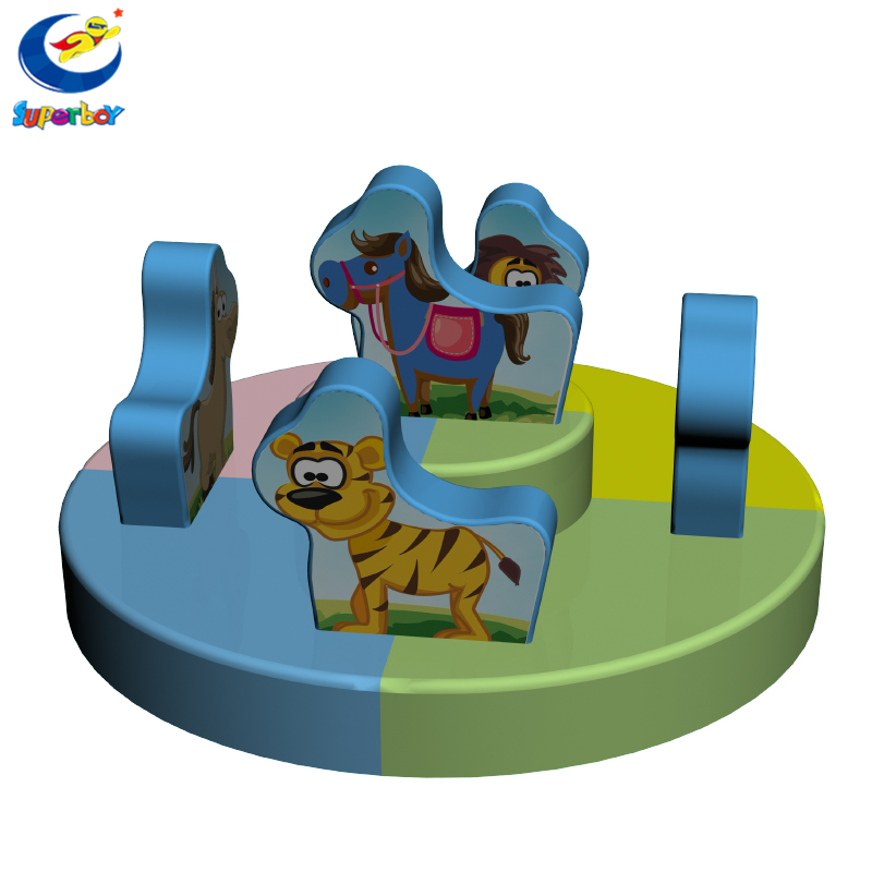 Children's Playground turntable, commercial entertainment Playground turntable, animal theme game soft bed