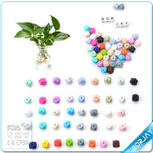 multicolor and kinds BPA free FDA approved silicone beads for teething bulk