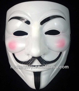 PVC Mask High Quality V For Vendetta Mask Guy Fawkes anonymous Mask For Discount