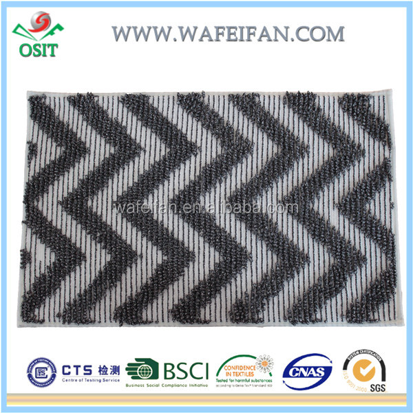 chenille microfiber hot selling abstract rugs modern area rug collection anti slip latex back