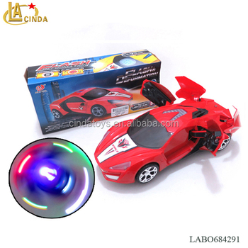 Multi-function electric car 360 degree rotation, automatic opening the door, 3d lighting music ,Hot toys products for sale