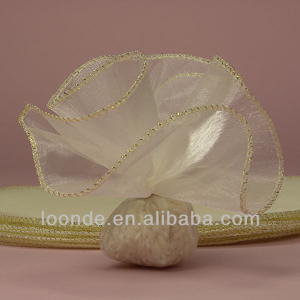 Metallic Overcast Edge Organza Circle Wraps