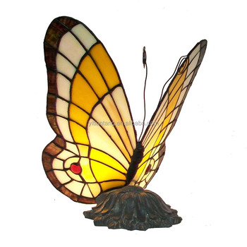 Perfect Stained Glass Butterfly Lamp Tiffany Butterfly Table Light Memory Lamp