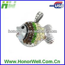 Diamond Tropical Fish Usb Flash Drive Flash Usb Pen for Lover