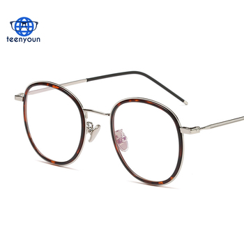 5479b625f34 9109 Women men Female round myopic glasses Gold Retro Eyeglasses frame  frames glasses optical Decoration accessories