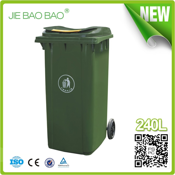 outdoor garbage container american style 240 liter color codedrecycle hdpe plastic basket room usage wheelie beach dustbin