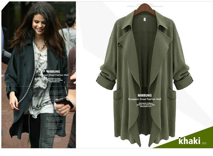 Military green jacket womens