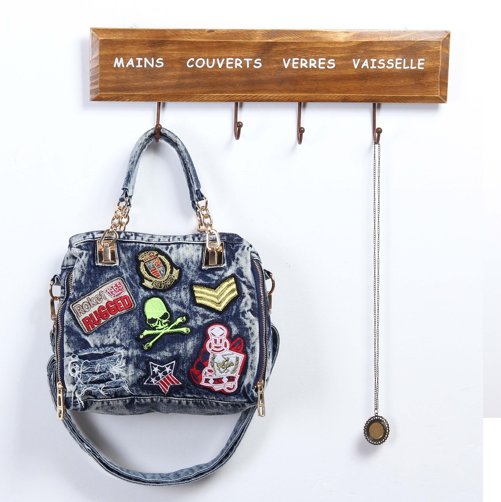 d18953b18c8 2015 Famous Brand Women Blue Denim Designer Handbag High Quality UK Shoulder  Jeans Bags Women Messenger