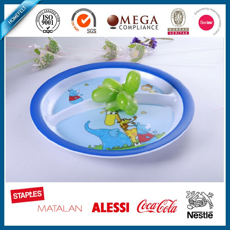 round hot style children's plastic dinner plate covers