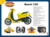Quest 125 Wholesale petrol and electric scooter,vespa scooters for sale,chinese scooter manufactures