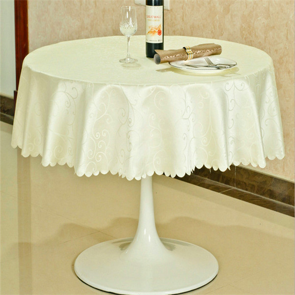 Superieur Wholesale Printed Embroidery 120 Round Plastic Tablecloth