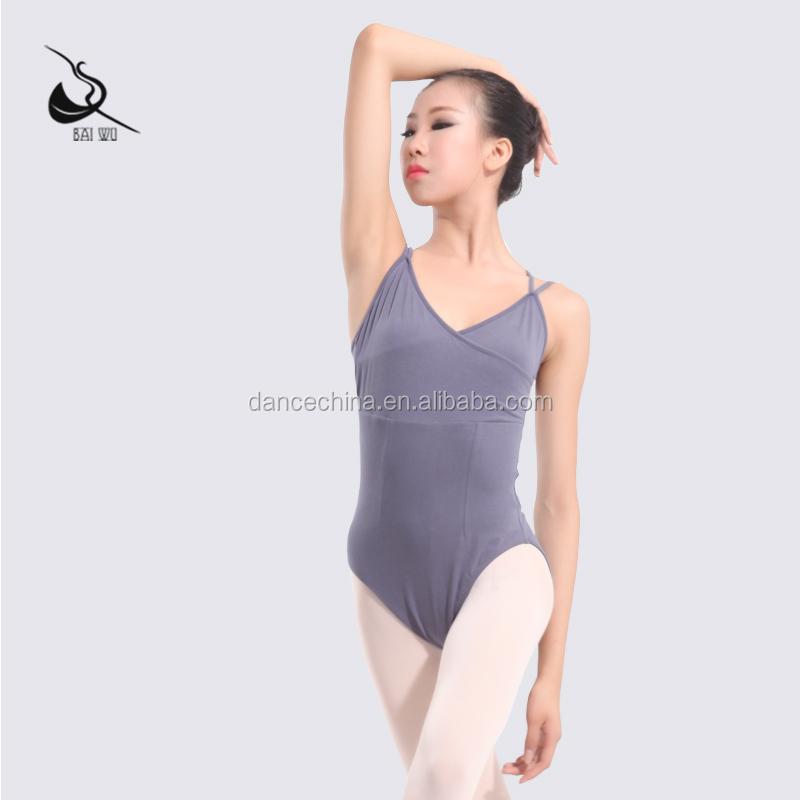 11414108 Doble Camisola Ballet Danza Borgoña Adulto Danza Leotardo ...