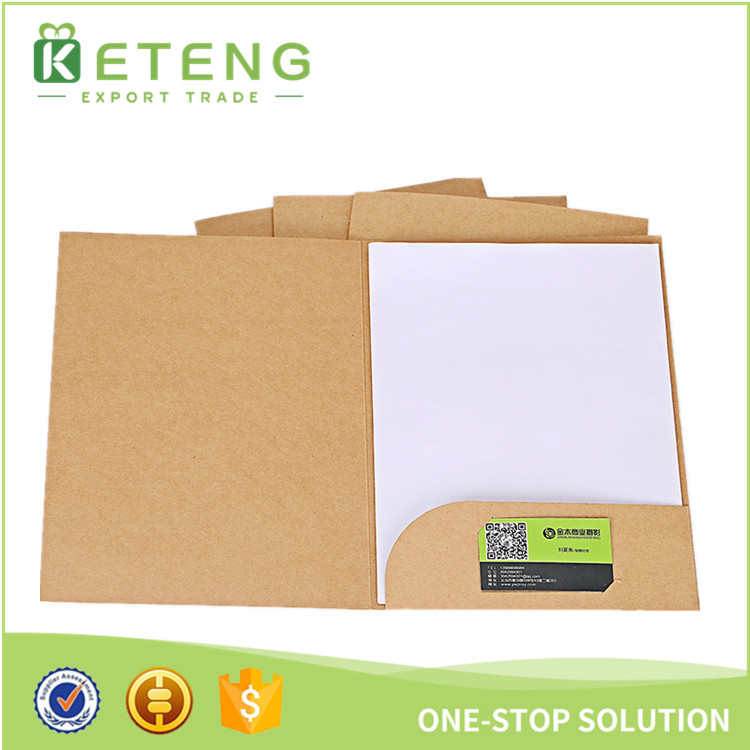 Custom Printed A4 Size Kraft Card Presentation Portfolio File Folder ...