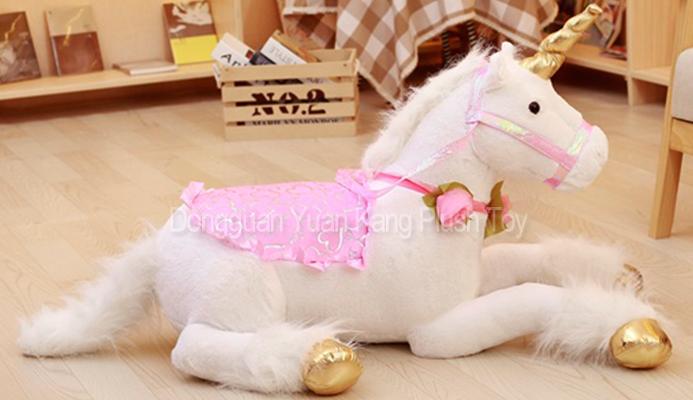 Custom Giant Big Plush White Unicorn Stuffed Toy Stuff Large Red