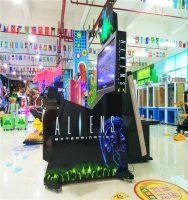 Coin operated game machine Aliens Extermination/2016 new produce amusement ticket gun shooting video playing for kids and adult