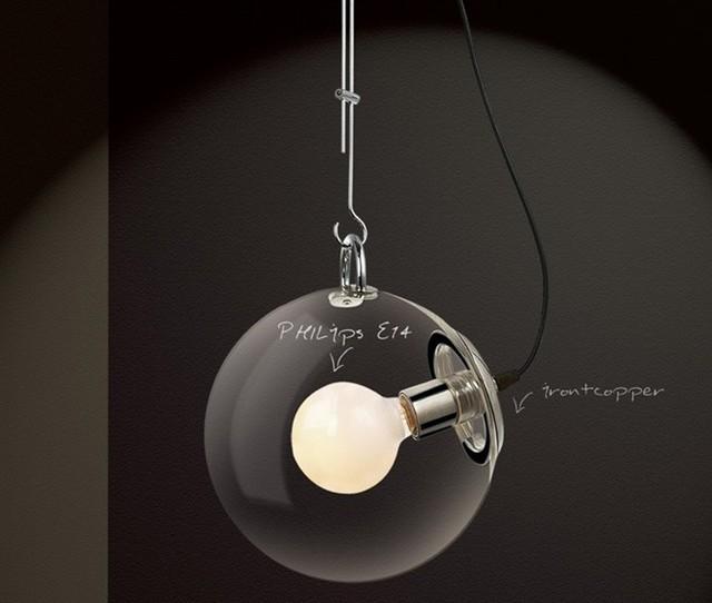 fashion moderne pendelleuchte transparente glaskugel lampe seifenblase lampe beleuchtung in. Black Bedroom Furniture Sets. Home Design Ideas